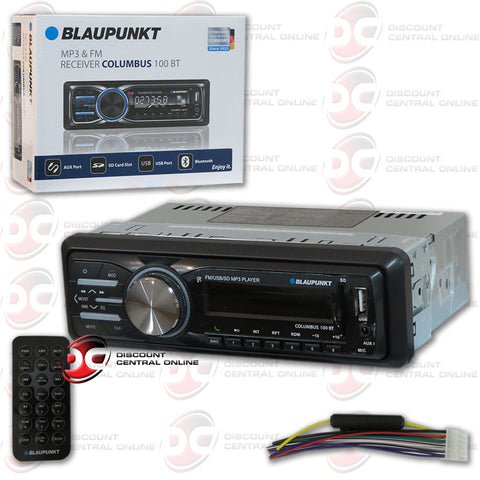 BLAUPUNKT COLUMBUS100BT MULTIMEDIA RECEIVER WITH AUX/USB/SD/FM/BLUETOOTH CABABILITY