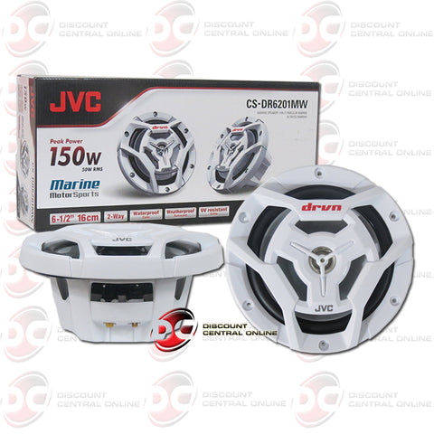 2x JVC CS-DR6201M DRVN 2-Way Car Boat Marine Coaxial Speakers