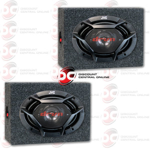 "JVC CS-DR6930 500W PEAK (70W RMS) 6X9"" 3-WAY FACTORY UPGRADE COAXIAL SPEAKERS + 2 X  SPEAKER HOUSING BOX FOR 6X9 SPEAKERS"
