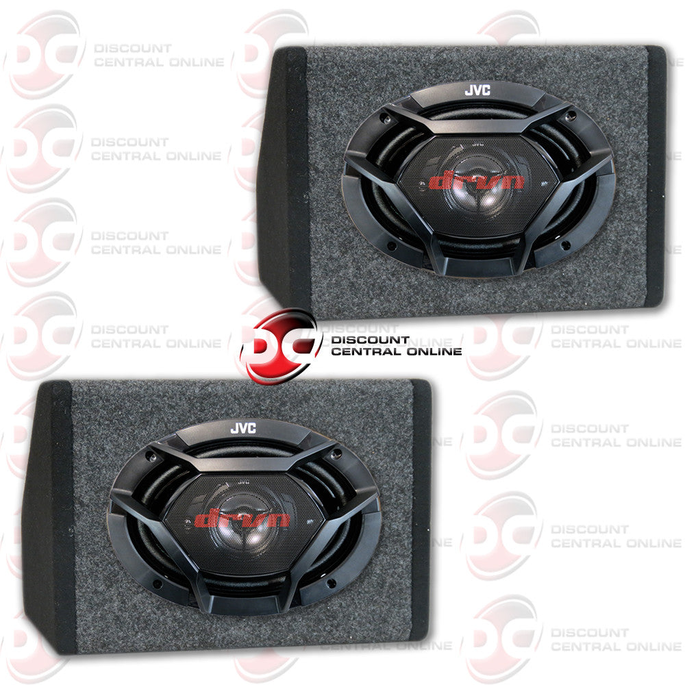 "JVC CS-DR6930 500W PEAK (70W RMS) 6X9"" 3-WAY FACTORY UPGRADE COAXIAL SPEAKERS + 2 X  ANGLED SPEAKER HOUSING BOX FOR 6X9 SPEAKERS"