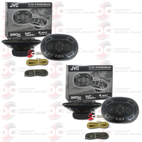 "4x JVC CS-HX6945 6X9"" 4-Way Car Audio Coaxial Speakers"