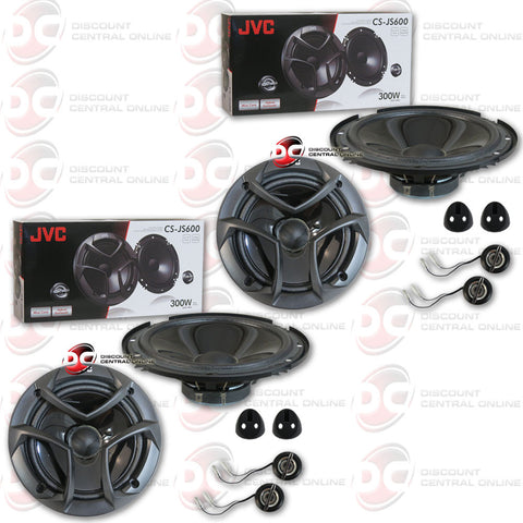 4 x JVC CS-JS600 2-way Component Speaker System 300 watts