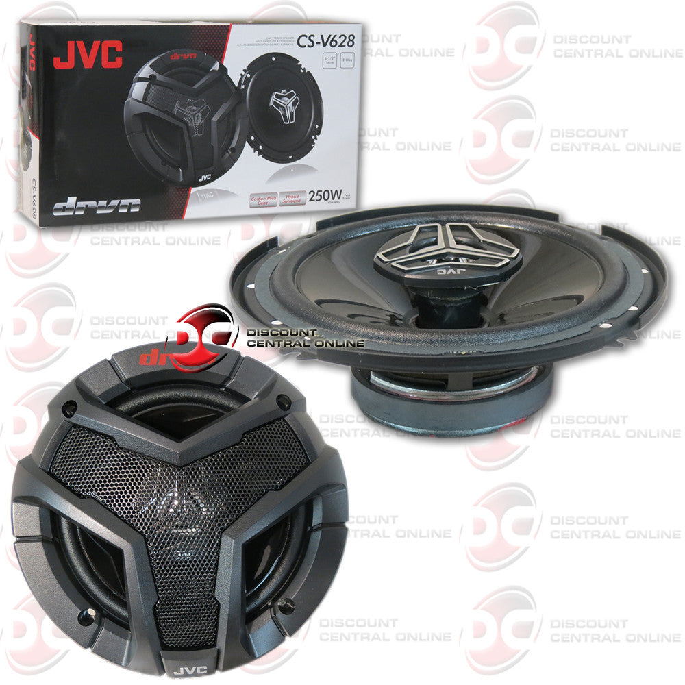"JVC CS-V628 6-1/2"" CAR AUDIO SPEAKERS (DRVN SERIES)"