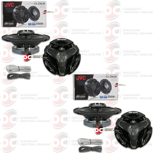 "JVC CS-ZX630 6.5"" DRVN 3-WAY CAR COAXIAL SPEAKERS (2 PAIRS)"