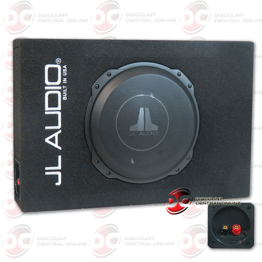 "JL Audio CS110LG-TW3 Sealed PowerWedge™ enclosure with one 10"" TW3 subwoofer"
