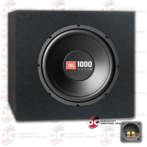 "JBL CS1214 12"" Single 4-ohm Car Audio Subwoofer plus Subwoofer Box"