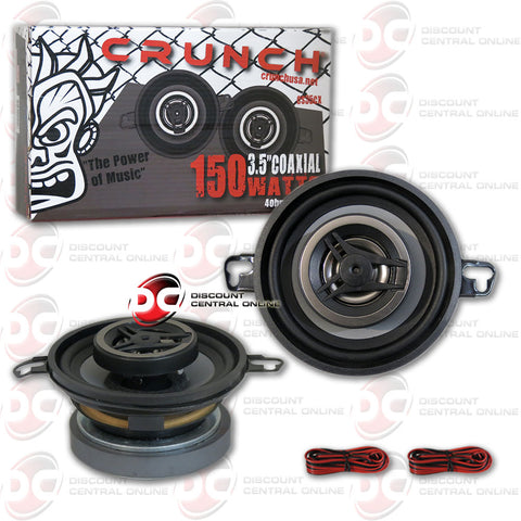 "Crunch CS35CX 3.5"" 2-way car audio coaxial speakers"