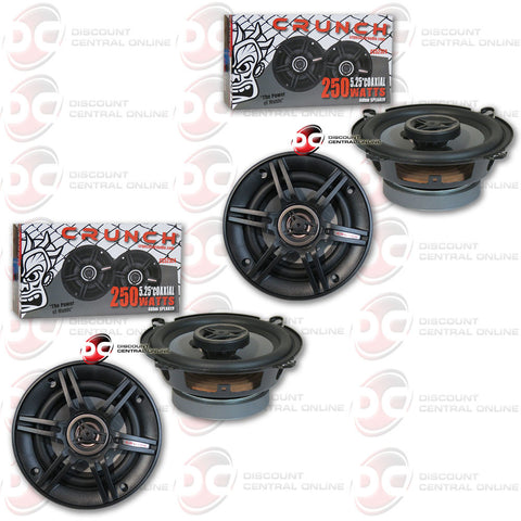 "4 X CRUNCH CS525CX 250W 5.25"" 2-WAY CS SERIES COAXIAL CAR SPEAKERS"