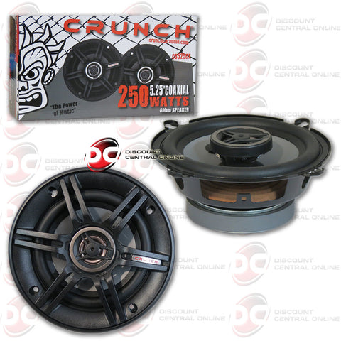 "CRUNCH CS525CX 250W 5.25"" 2-WAY CS SERIES COAXIAL CAR SPEAKERS"