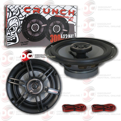 "CRUNCH CS653 6.5"" 3-WAY CAR AUDIO COAXIAL SPEAKERS (PAIR)"