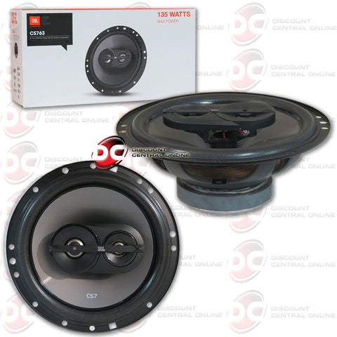"JBL CS763 6.5"" 3-way Car Audio Coaxial Speakers"