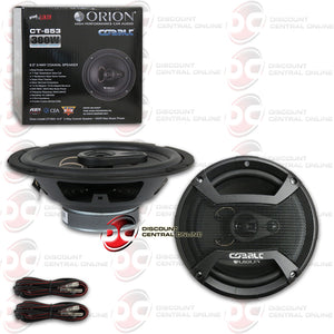 "ORION CT-653 6.5"" 3-WAY CAR COAXIAL SPEAKERS"