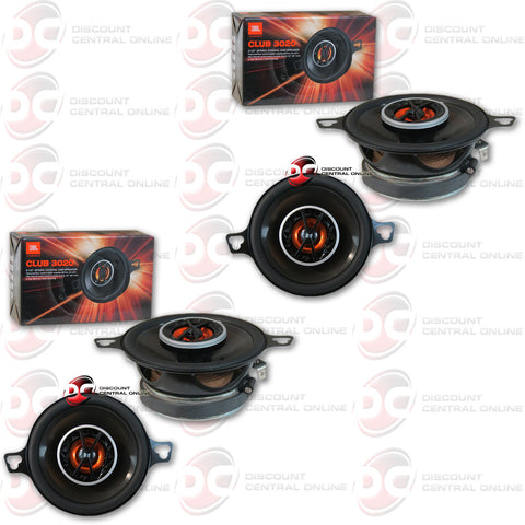 "4 x JBL CLUB 3020 3-1/2"" 2-WAY CAR SPEAKERS"