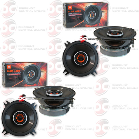 "JBL Club 4020 4"" 2-Way Car Speakers (2 Pairs)"