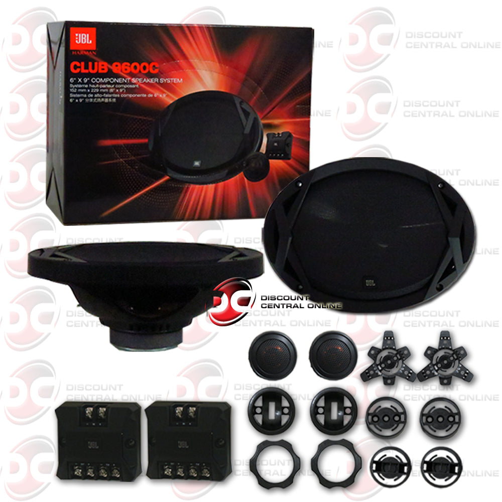 "JBL Club-9600C 6""x9"" Car Audio Club Series 2-way Component Speaker System"
