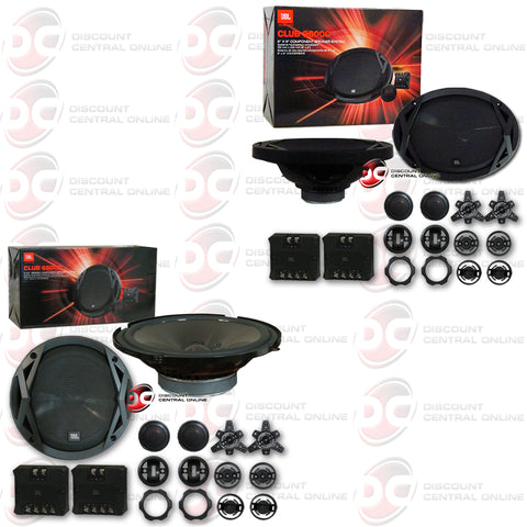 "JBL Club 6500C 6.5"" Component Plus Club 9600C 6""x 9"" 2-Way Component Car Speakers"