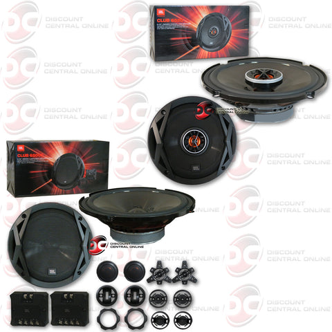 "JBL Club 6520 6-3/4"" 2-way Car Speakers + JBL Club 6500C 6-1/2"" Component Speaker System"