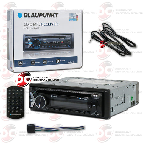 Blaupunkt Dallas5023 1-Din Car AM/FM/CD Receiver With Bluetooth Plus IBA-3.5mm AUX Cord