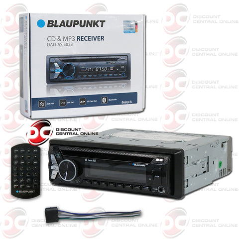 Blaupunkt Dallas5023 1-Din Car AM/FM/CD Receiver With Bluetooth