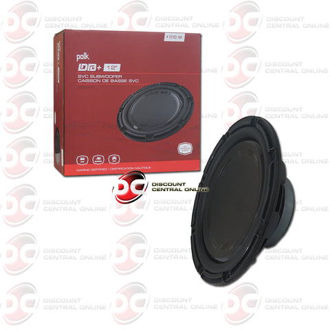 "Pollk Audio DB1242SVC Plus Series 12"" Single 4-Ohm Car Audio Subwoofer"