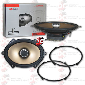 "Polk Audio DB571 5""X 7"" / 6""X 8"" 2-Way Car Boat Marine Audio Speakers"