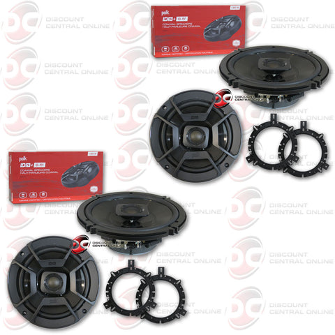 "4 x Polk Audio DB652 6.5"" Car Audio Coaxial Speakers"