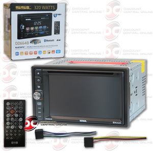 "SOUND STORM LAB DD664B 6.2"" TOUCHSCREEN MULTIMEDIA RECEIVER WITH DVD/MP3/CD/AM/FM/AUX/BLUETOOTH CAPABILITY"