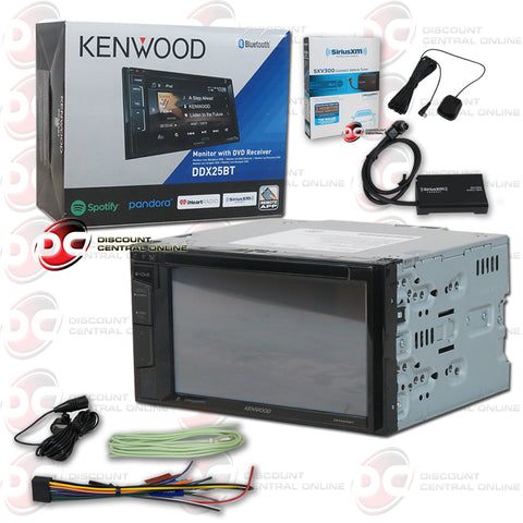 "Kenwood 2DIN DDX25BT 6.2"" Car DVD CD Receiver with Bluetooth + SiriusXM"