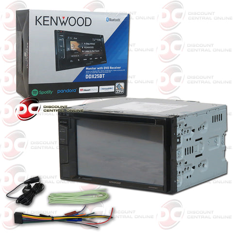 "Kenwood 2DIN DDX25BT 6.2"" Car DVD CD Receiver SiriusXM Ready with Bluetooth"