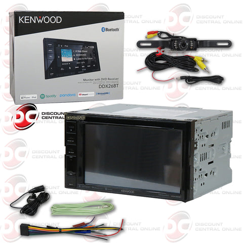 "Kenwood DDX26BT 2-Din 6.2"" Car AM/FM/CD/DVD/USB Receiver With Bluetooth (With Back-up Camera)"