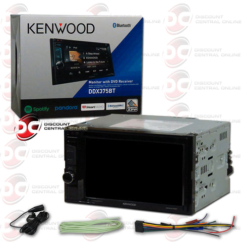 "Kenwood 2Din DDX375BT 6.2"" Car CD/DVD Receiver with Bluetooth"