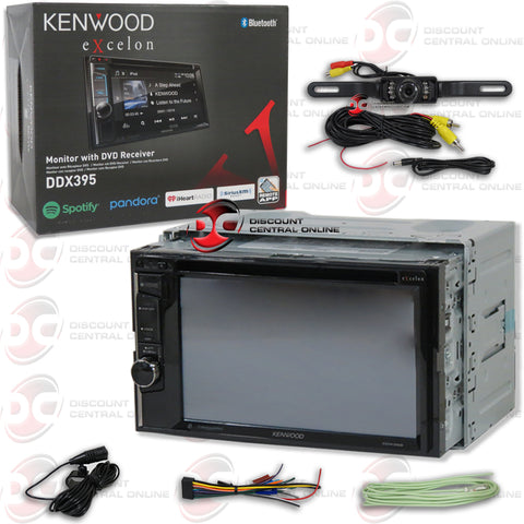 "Kenwood DDX395 2-Din 6.2"" Car AM/FM/CD/DVD Receiver with Bluetooth"
