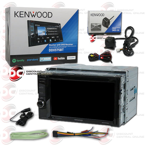 "Kenwood DDX575BT 6.2"" Car CD/DVD Bluetooth Weblink Stereo Plus CMOS-230 Back Up Camera"