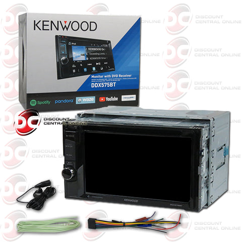 "Kenwood 2Din DDX575BT 6.2"" Car CD/DVD Receiver W/ Bluetooth & Weblink"