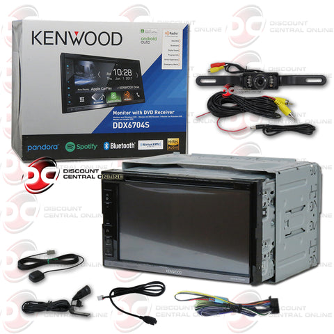 "Kenwood DDX6704S 2Din 6.75"" Car AM/FM/CD/DVD Receiver With Bluetooth And Android/Apple Car Play (With Back-up Camera)"