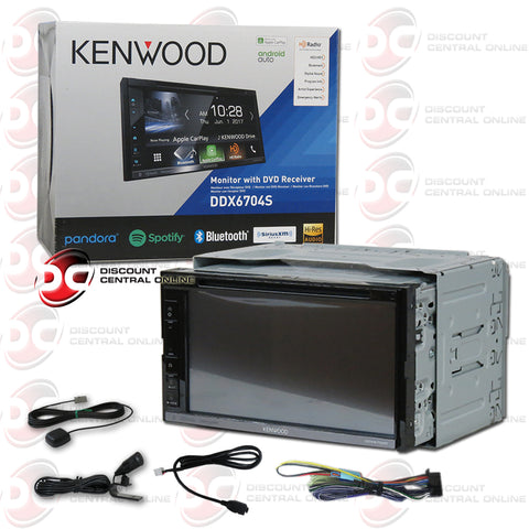 "Kenwood DDX6704S 2Din 6.75"" Car AM/FM/CD/DVD Receiver With Bluetooth And Android/Apple Car Play"