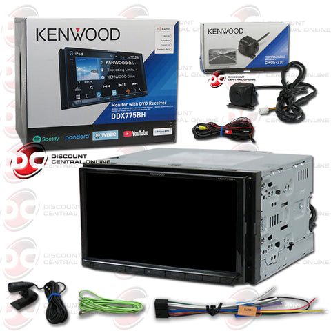 "Kenwood 2Din DDX775BH 7"" Car DVD/CD Receiver W/ Bluetooth & Weblink Plus CMOS-230 Back-up Camera"