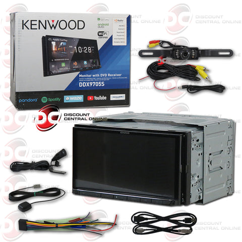 "Kenwood DDX9705S 2-Din 6.95"" Car AM/FM/CD/DVD Receiver With Bluetooth and Android/Apple Carplay (With Back-up Camera)"