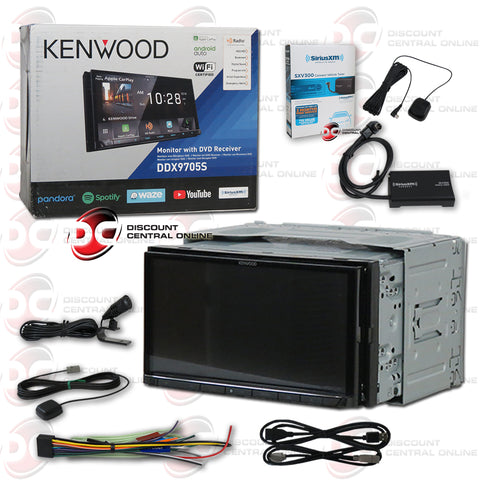 "Kenwood DDX9705S 2-Din 6.95"" Car AM/FM/CD/DVD Receiver With Bluetooth and Android/Apple Carplay Plus Sirius XM Connect SXV300V1 Tuner for Satellite Radio"