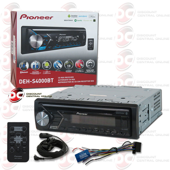 Pioneer 1DIN DEH-S4000BT Car CD Receiver ARC App with Bluetooth