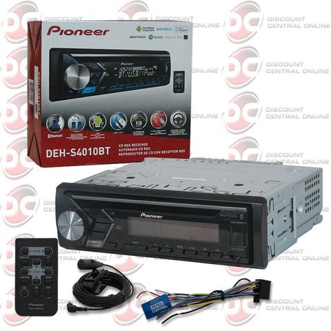 Pioneer DEH-S4010BT 1-Din Car CD Receiver with Bluetooth