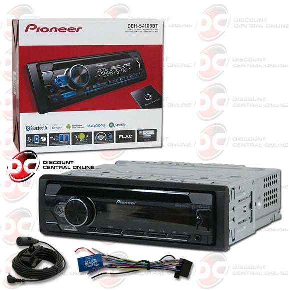 PIONEER DEH-S4100BT 1-DIN CAR CD/MP3/SPOTIFY RECEIVER WITH BLUETOOTH