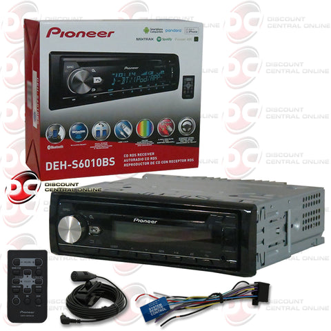 PIONEER DEH-S6010BS SINGLE DIN CAR AUDIO STEREO WITH AM/FM/CD/BLUETOOTH/ SIRIUS XM READY COMPATIBILITY