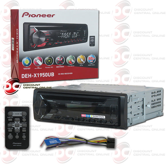 Pioneer DEH-X1950UB 1-Din Car CD Receiver with MIXTRAX
