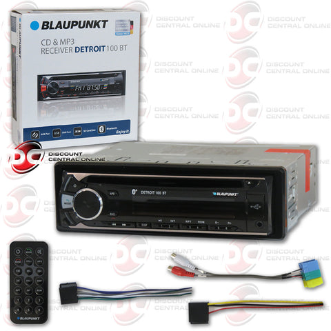 BLAUPUNKT DETROIT 100BT SINGLE DIN CAR AUDIO STEREO WITH CD/AM/FM/MP3/AUX/BLUETOOTH COMPATIBILITY