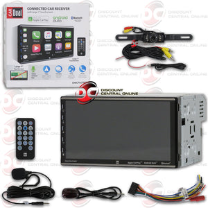 "DUAL DMCPA79BT 2-DIN 7"" CAR DIGITAL MEDIA RECEIVER WITH BLUETOOTH CARPLAY ANDROID AUTO (WITH BACK-UP CAMERA)"