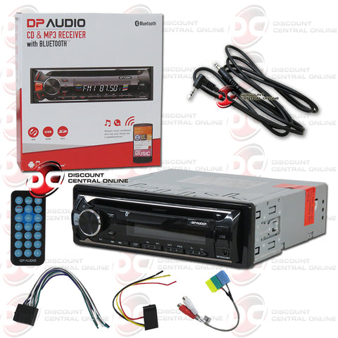 DP Audio DPH9234BT 1-Din Car Audio Stereo AM/FM/CD/AUX/ Receiver With Bluetooth Plus IBA-3.5mm AUX Cord