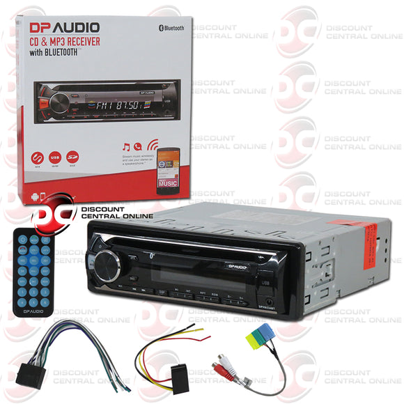 DP Audio DPH9234BT 1-Din Car Audio Stereo AM/FM/CD/AUX/ Receiver With Bluetooth