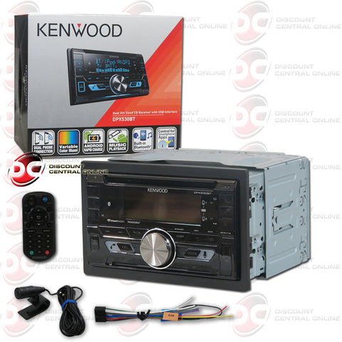 Kenwood DPX530BT 2-Din Car CD Receiver with Bluetooth