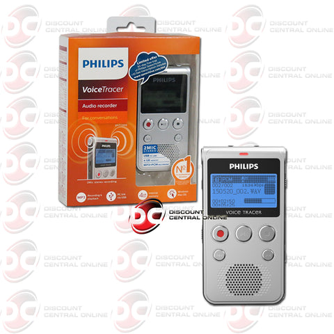Philips DVT1300 Voice Tracer Voice Operated Audio Recorder (Warm Silver & Black)